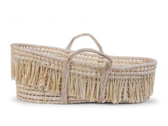 Košík pro miminko Natural Raffia + matrace