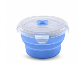 Skládací silikonová miska 230ml, modrá