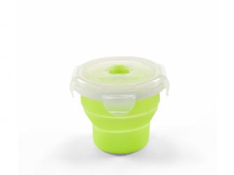 Skládací silikonová miska 230ml, zelená