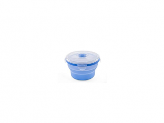 Skládací silikonová miska 540ml, modrá