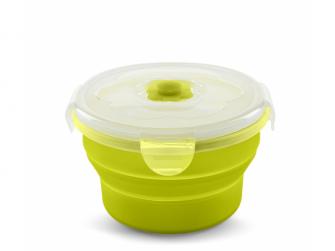 Skládací silikonová miska 540ml, zelená