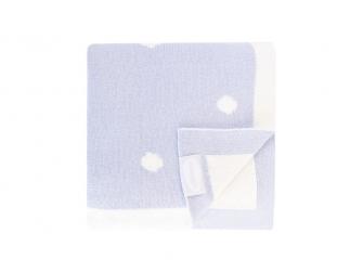 Luxusní pletená deka modrá