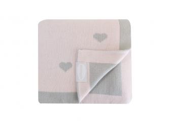 Luxusní pletená deka růžová