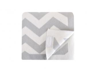 Luxusní pletená deka šedá