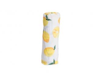 Mušelínová zavinovací plena 120x120cm Lemon 2