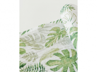 Mušelínová zavinovací plena 120x120cm Tropical Leaf 4