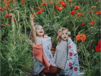 Mušelínová deka 120x120cm Summer Poppy 11