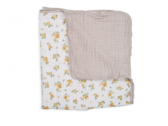 Mušelínová deka 120x120cm Yellow Rose 2