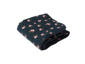 Mušelínová deka 120x120cm Midnight Rose