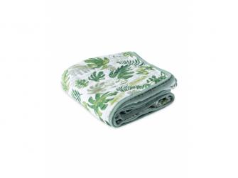 Mušelínová deka 120x120cm Tropical Leaf