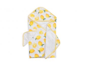 Osuška s kapucí a žínka Lemon