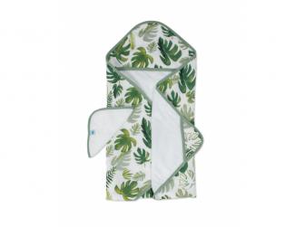 Osuška s kapucí a žínka Tropical Leaf