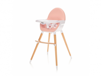 Dětská židlička Dolce, Blush Pink-růžová