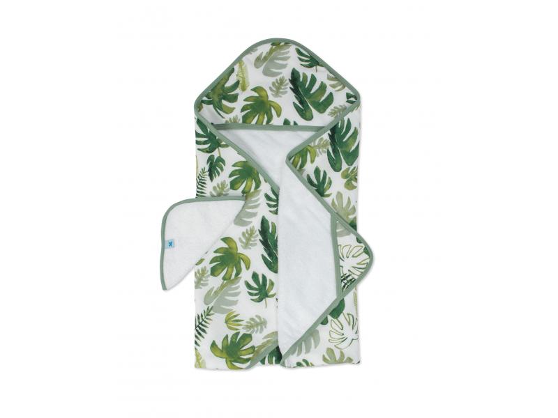Osuška s kapucí a žínka Tropical Leaf 1